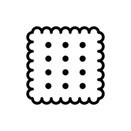 Biscuit icon flat vector template design trendy Vectores