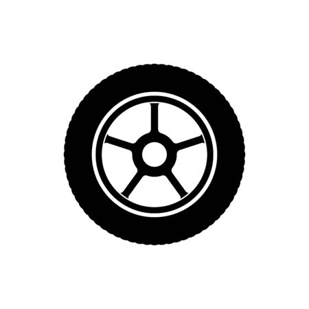 Tire icon flat vector template design trendy Ilustracja