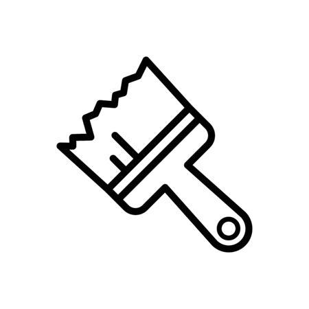 Paint brush icon flat vector template design trendy