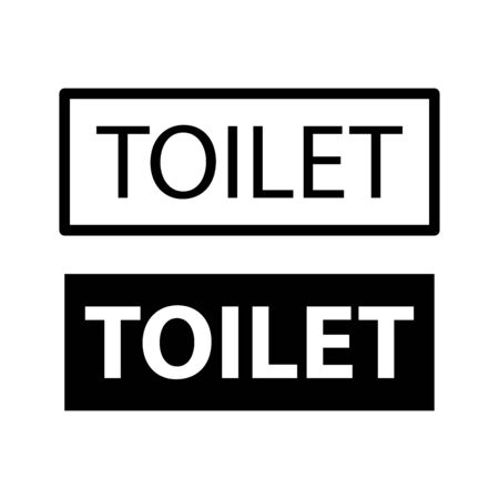 Toilet, Restroom icon flat vector template design trendy