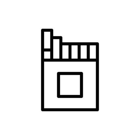 Cigarette icon flat vector template design trendy
