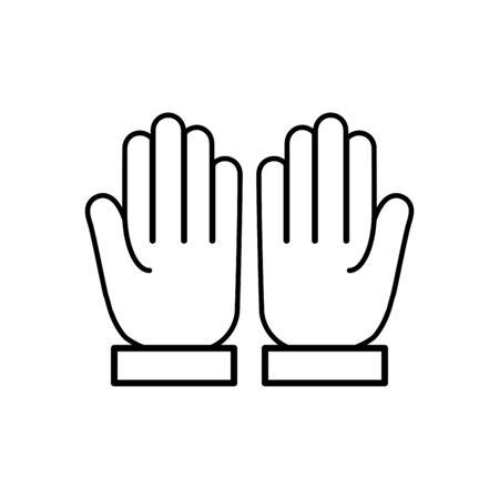 Praying hand icon flat vector template design trendy Çizim