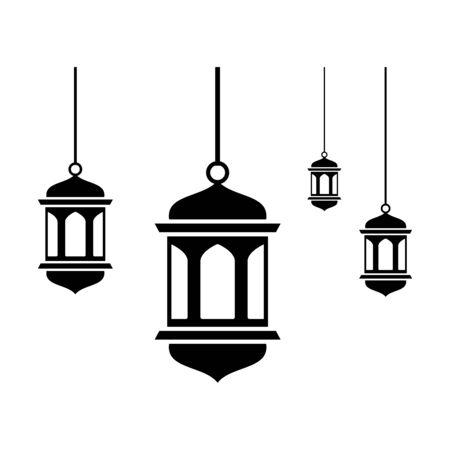 Ramadan Lantern icon flat vector template design trendy Ilustracje wektorowe