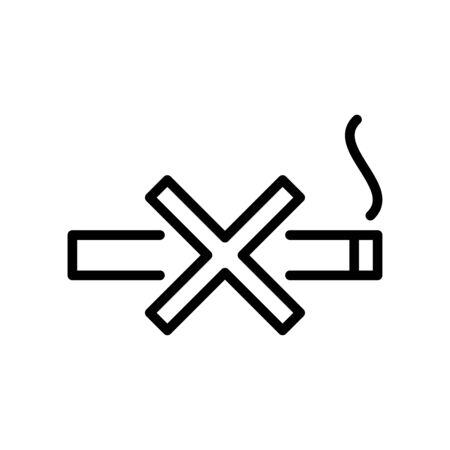 Icône de cigarette vecteur plat modèle de conception à la mode Vecteurs