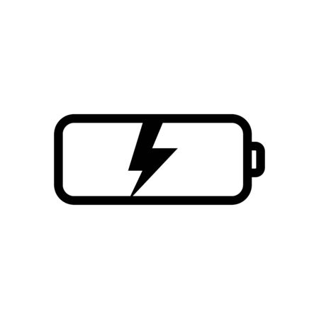 Battery icon flat vector template design trendy