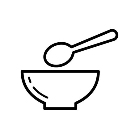 Bowl icon flat vector template design trendy