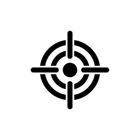 Dart target icon flat vector template design trendy