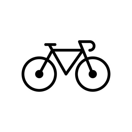 Bicycle icon flat vector template design trendy