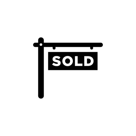 Sold icon flat vector template design trendy