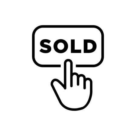 Sold icon flat vector template design trendy Illustration