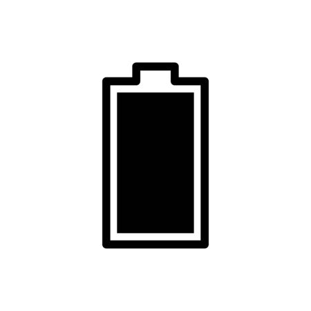 Battery icon flat vector template design trendy 向量圖像