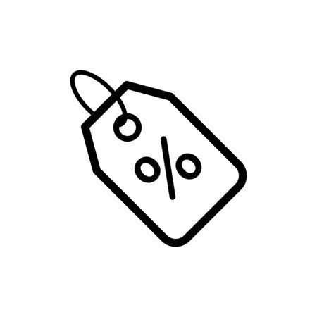 Discount icon flat vector template design trendy