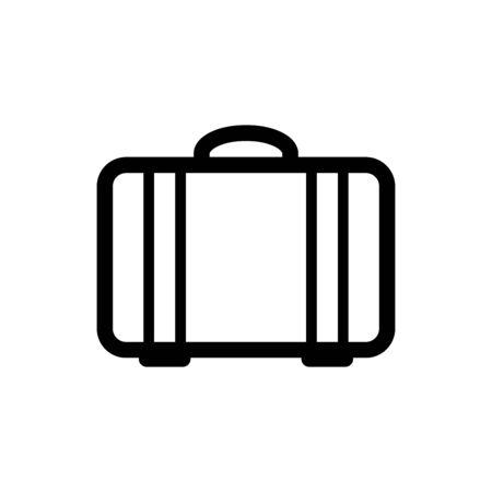 Luggage icon flat vector template design trendy Vettoriali