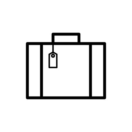 Luggage icon flat vector template design trendy