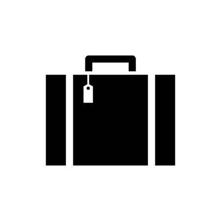 Luggage bag icon flat vector template design trendy