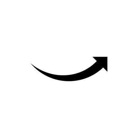 Arrow pointer icon flat vector template design trendy