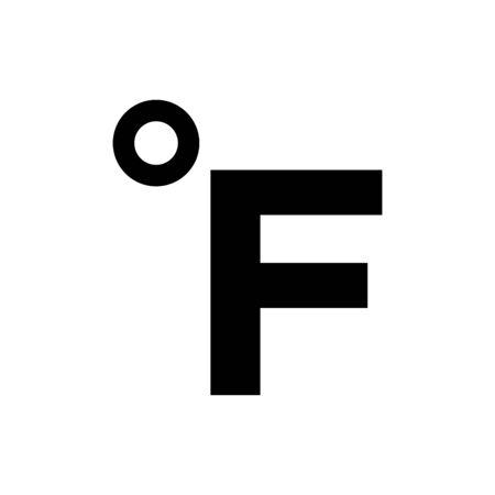Temperature icon flat vector template design trendy Ilustrace