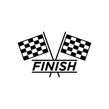 Race flag icon flat vector template design trendy Stockfoto - 147737418