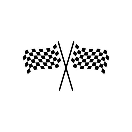 Race flag icon flat vector template design trendy