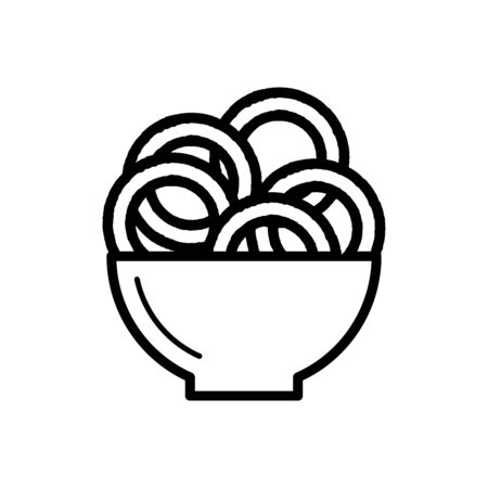 Onion ring icon flat vector template design trendy