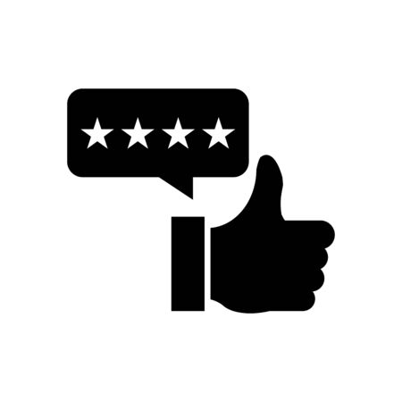 Rating icon flat vector template design trendy
