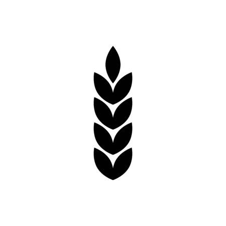 Wheat icon flat vector template design trendy Vetores