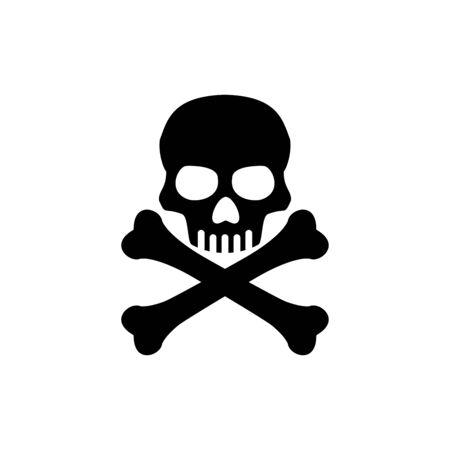 Skull icon flat vector template design trendy