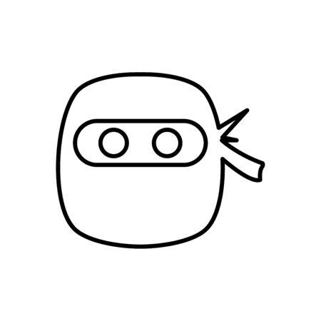 Ninja icon flat vector template design trendy