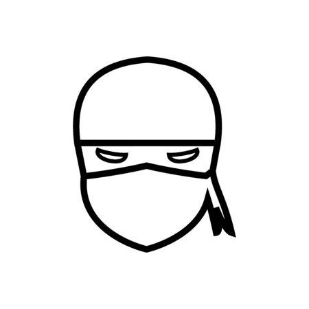 Ninja icon flat vector template design trendy Stok Fotoğraf - 147739949