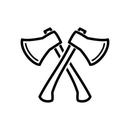 Axe icon flat vector template design trendy