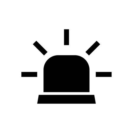 Siren icon flat vector template design trendy