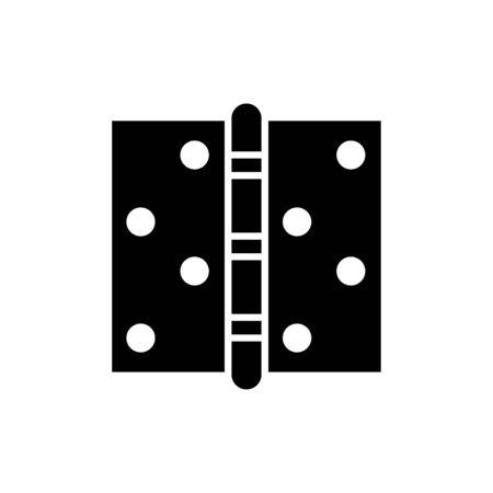 Door hinge icon flat vector template design trendy Vectores