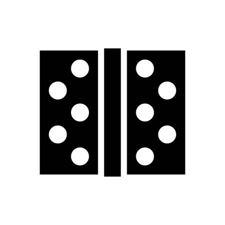 Door hinge icon flat vector template design trendy Ilustración de vector