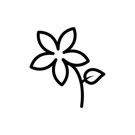 Flower icon flat vector template design trendy