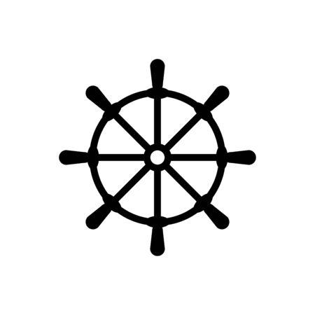 Rudder icon flat vector template design trendy