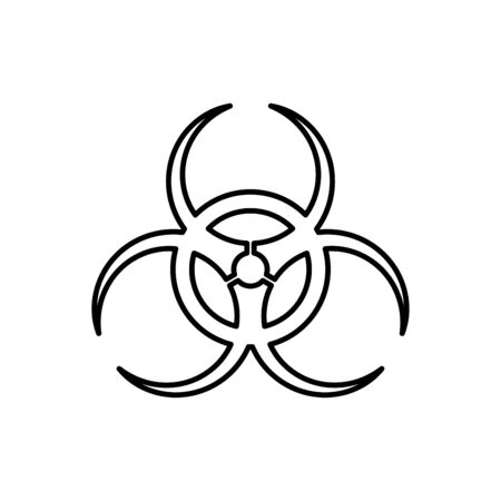 Bio hazard icon flat vector template design trendy Illustration