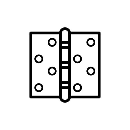 Door hinge icon flat vector template design trendy Vectores