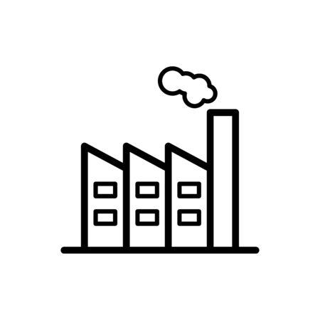 Factory icon flat vector template design trendy Standard-Bild - 147745181