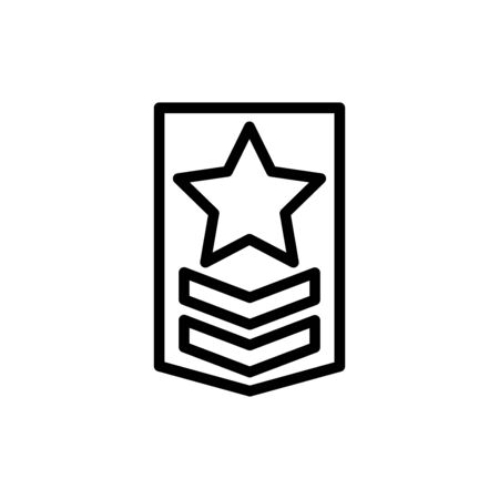 Military rank icon flat vector template design trendy