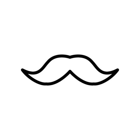 Mustache icon flat vector template design trendy Иллюстрация
