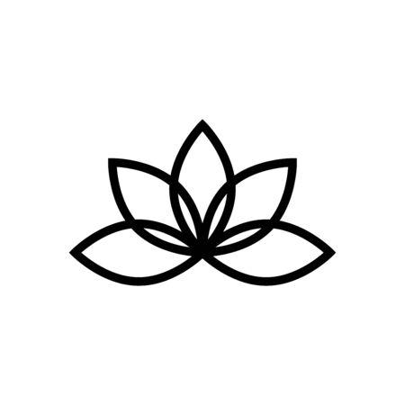 Lotus icon flat vector template design trendy