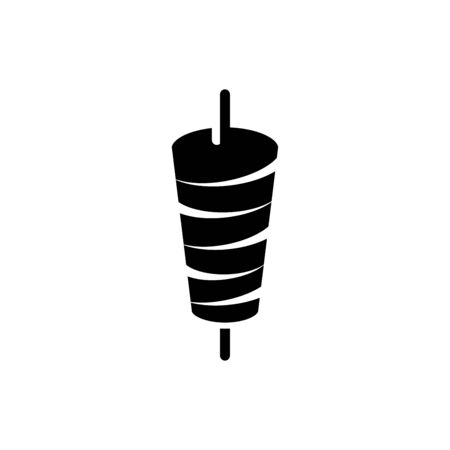 Kebab icon flat vector template design trendy