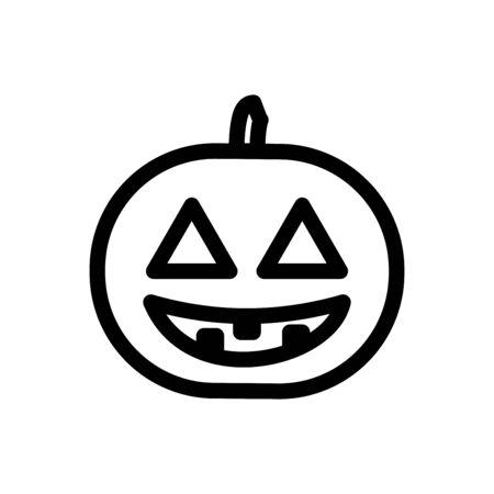 Jack O Lantern icon flat vector template design trendy