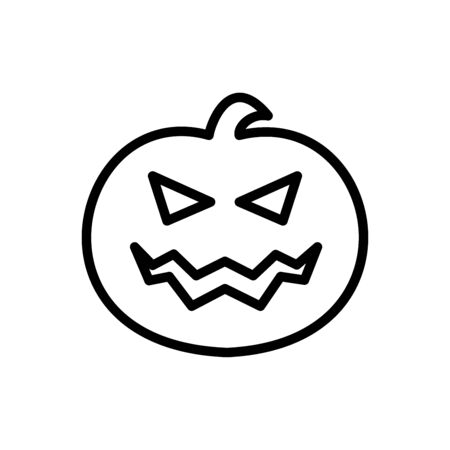 Jack O Lantern icon flat vector template design trendy