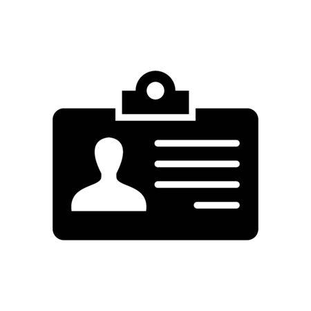 Identity card icon flat vector template design trendy 向量圖像