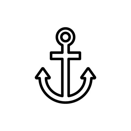 Anchor icon flat vector template design trendy