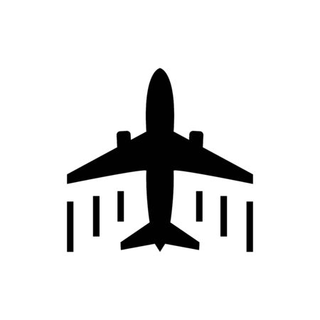 Plane icon flat vector template design trendy