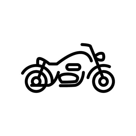 Motorcycle icon flat vector template design trendy