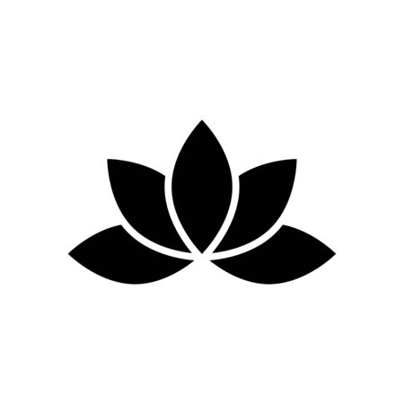 Lotus icon flat vector template design trendy