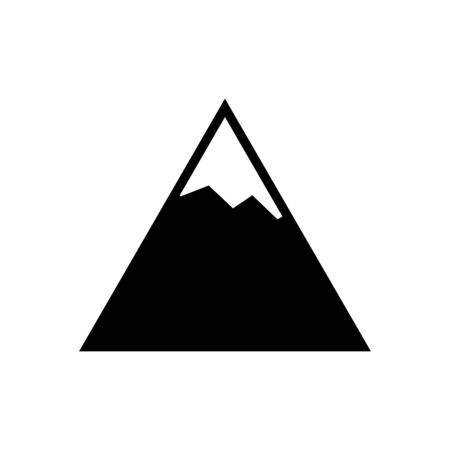 Mountain icon flat vector template design trendy